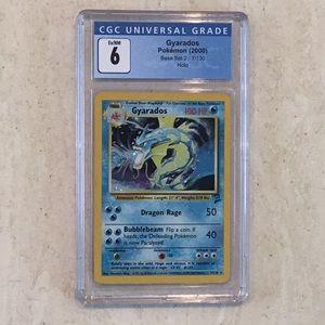 Gyarados Pokémon 7/130 Holo 2000 Base Set 2 CGC 6